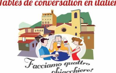 Dans notre Cyber Espace : Table de conversation en italien à partir de mercredi 2 avril à 16h